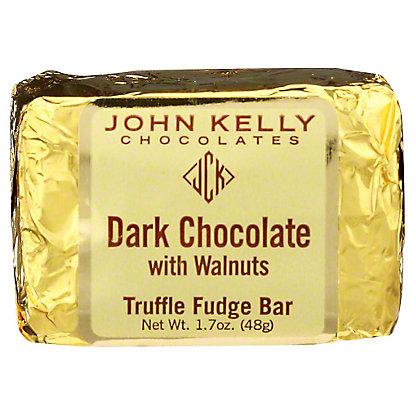 JOHN KELLY CHOCOLATES John Kelly Truffle Fudge Dark Chocolate with Walnuts,1.7OZ