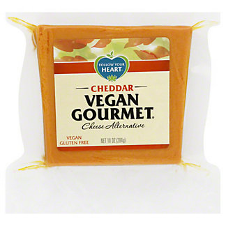 Follow Your Heart Vegan Gourmet Cheddar Cheese Alternative,10 OZ