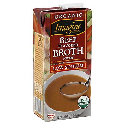 Imagine Organic Beef flavored broth, low fat, 32OZ