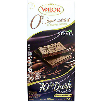 Valor Sugarfree 70% Dark Chocolate Bar,3.5OZ