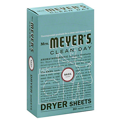 Mrs. Meyer's Clean Day Basil Scent Dryer Sheets,80 CT