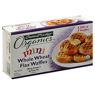 Central Market Organics Mini Whole Wheat Flax Waffles, 32 ct