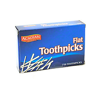 Acadian Trading Flat Toothpicks,750 ct