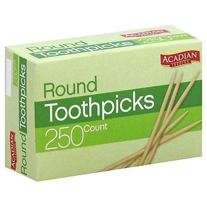 Acadian Trading Round Toothpicks,250 ct