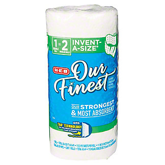 H-E-B Our Finest Invent-A-Size Big Roll Paper Towels, 1 ct