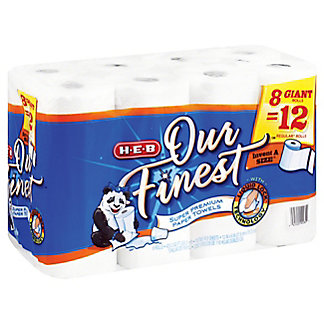H-E-B Our Finest Invent-a-Size Giant Roll Paper Towels, 8 ct