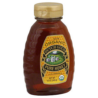 Dutch Gold 100% Organic Pure Honey,12OZ