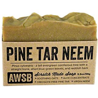 A Wild Soap Bar Pine Tar and Neem Oil Soap Bar, 3.5 oz.