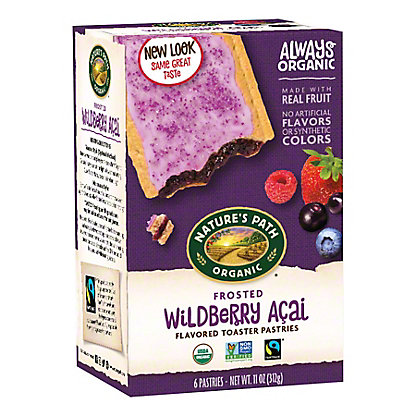 Nature's Path Organic Frosted Wildberry Acai Toaster Pastries,6 CT