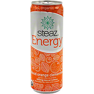 Steaz Energy Drink Orange Single Bottle, 12 oz