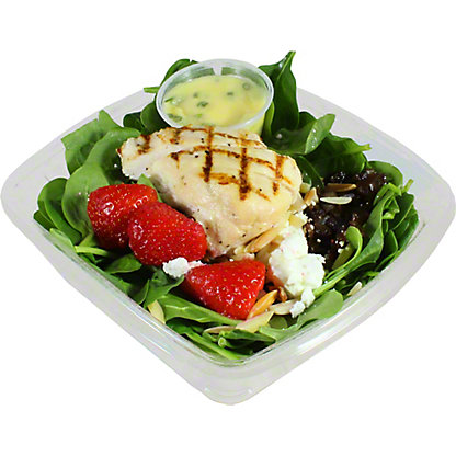Central Market Grilled Chicken Spinach and Strawberries Salad, ea