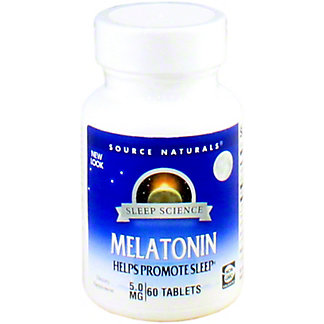 Source Naturals Melatonin 5 mg, 60 ct
