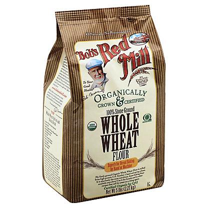 Bob's Red Mill Organic Whole Wheat Stone Ground Flour, 5 lb