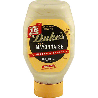 Duke's Real Sugar-free Mayonnaise Squeeze Bottle, 18 oz