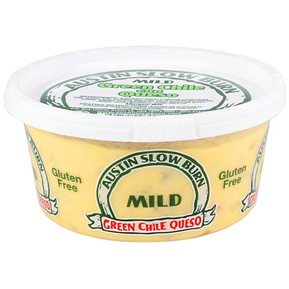 Austin Slow Burn Mild Green Chile Con Queso, 12 oz