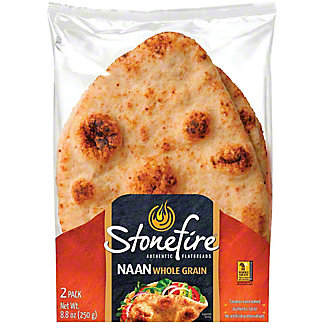 Stonefire Authentic Flatbreads Whole Grain Naan, 8.8 oz