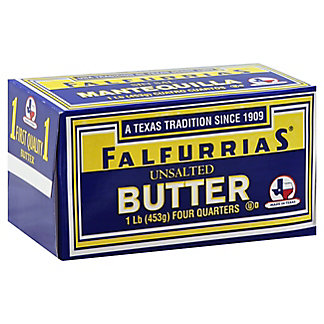 Falfurrias Unsalted Butter Quarters,1 lb