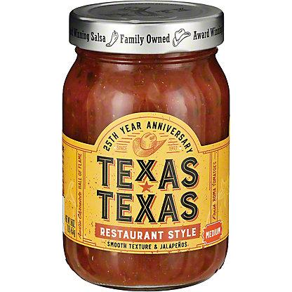 Texas-Texas Restaurant Style Medium Salsa, 16 oz