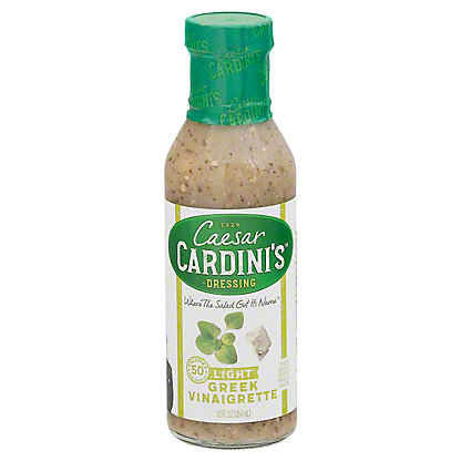 Cardini's Light Greek Vinaigrette Dressing,12.00 oz