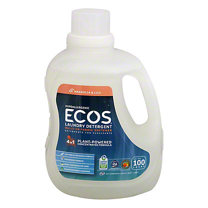 Earth Friendly Ecos 2X Ultra Magnolia and Lily HE Liquid Laundry Detergent,100 oz
