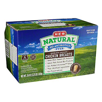 H-E-B Natural Boneless Skinless Chicken Breasts,36 OZ