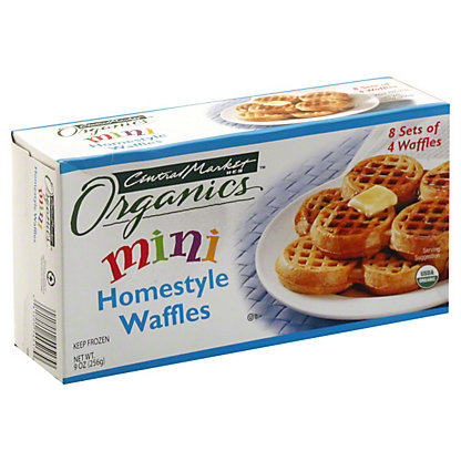 Central Market Organics Mini Homestyle Waffles,32 CT