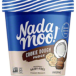 NadaMoo Cookie Dough Fudge Organic Dairy-Free Frozen Dessert,1 pt