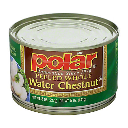 Polar Peeled Whole Water Chestnut, 8 oz