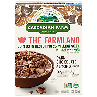 Cascadian Farm Organic Dark Chocolate Almond Granola, 13.25 oz