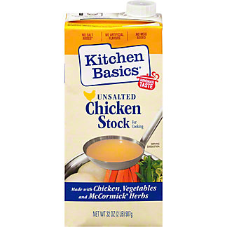 Kitchen Basics Unsalted Chicken Cooking Stock, 32 oz