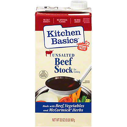 Kitchen Basics Unsalted Beef Flavor Cooking Stock, 32 oz