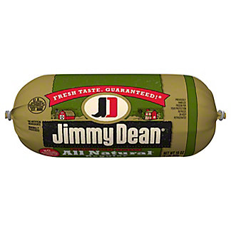 Jimmy Dean All Natural Regular Pork Sausage, 16 oz