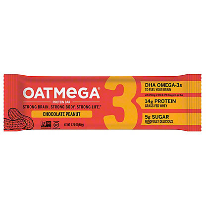 Oatmega Chocolate Peanut Crisp Protein Bar,1.8 oz