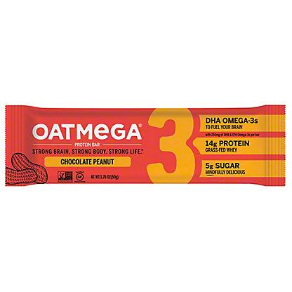 Oatmega Chocolate Peanut Crisp Protein Bar,1.8 oz