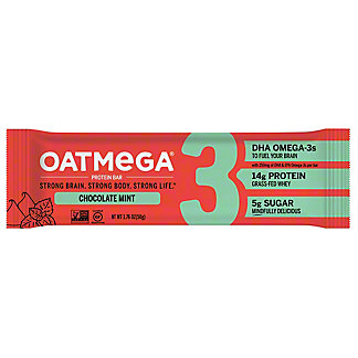 Oatmega Dark Chocolate Mint Crisp Protein Bar,1.8 oz