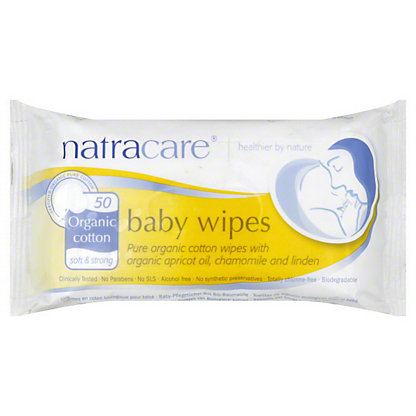 Natracare Baby Wipes, 50 CNT