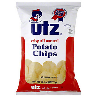Utz Potato Chips Family Size,10.5  OZ