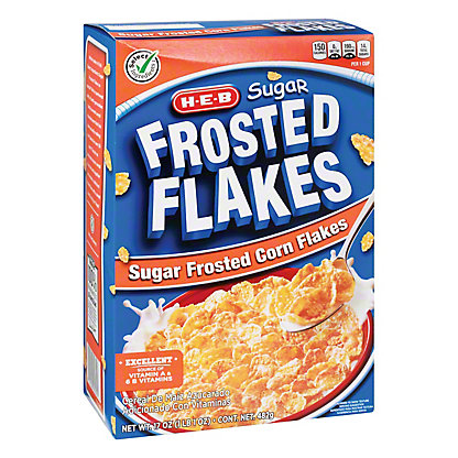 H-E-B Select Ingredients Sugar Frosted Flakes Cereal, 17 oz