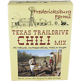 Fredericksburg Farms Texas Trail Drive Chili Mix,2.2OZ
