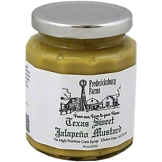 FREDERICKSBURG FARMS Texas Sweet Jalapeno Mustard,8 OZ