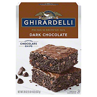 Ghirardelli Dark Chocolate Brownie Mix,20 oz