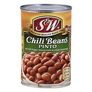 S & W Chili Beans, Premium, 15.5 OZ