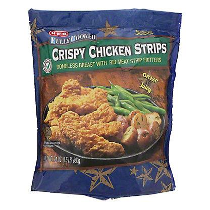 H-E-B Fully Cooked Crispy Chicken Strips, 28 oz