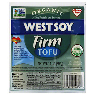 West Soy Organic Firm Tofu,16 OZ