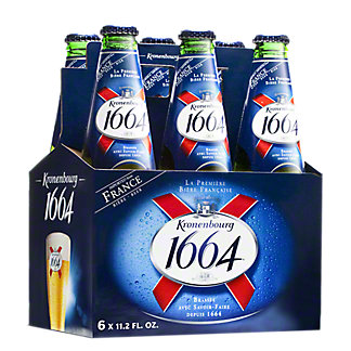 Kronenbourg 1664 Beer 6 PK Bottles,11.2 OZ
