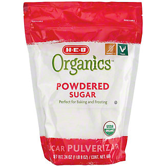 H-E-B Organics Powdered Sugar,24 OZ