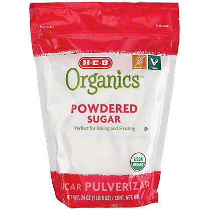 H-E-B Organics Powdered Sugar,24 OZ