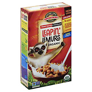 Nature's Path Organic EnviroKidz Leapin' Lemurs Peanut Butter and Chocolate Cereal, 10 oz