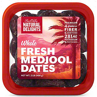 Natural Delights Whole Medjool Dates, 16 oz