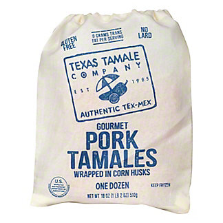 Texas Tamale Texas Tamale Gourmet Pork Tamales,12 ct